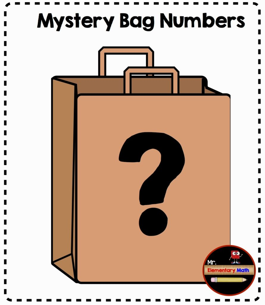 worksheet Mystery Number mystery bag number activities mr elementary math activities