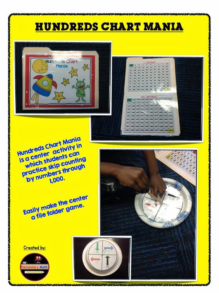 photos of Hundreds Chart Activities, Mr Elementary Math, 1st grade, 2nd grade, 3rd grade