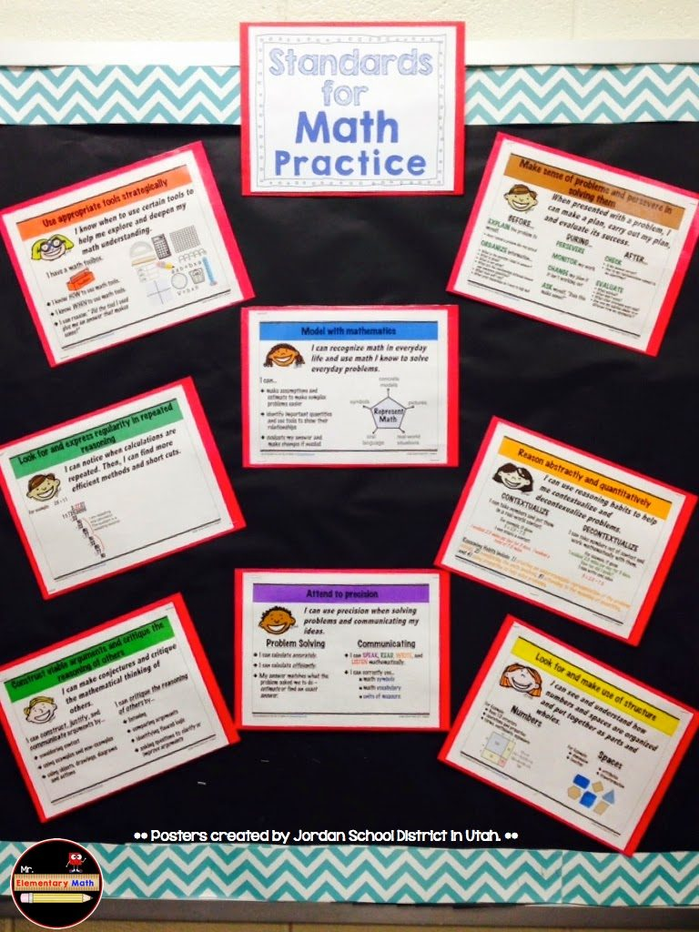 photos of Standards for Math Practice, Mr Elementary Math