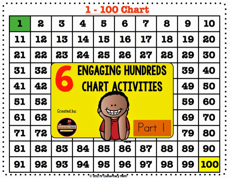 Engaging Hundreds Chart Activities Part 2 - Mr Elementary Math