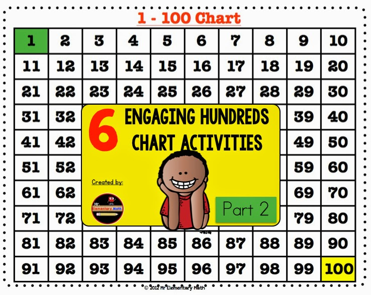 Engaging Hundreds Chart Activities Part   Mr Elementary Math