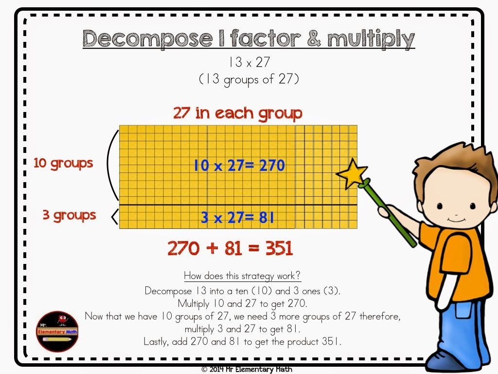 photos of multiplication, anchor chart, mr elementary math, 3rd grade, 4th grade, 5th grade