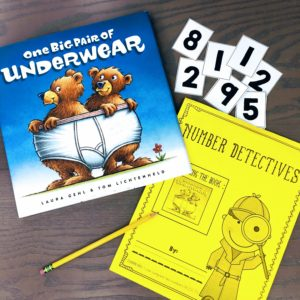 Math Literature Connection – One Big Pair of Underwear