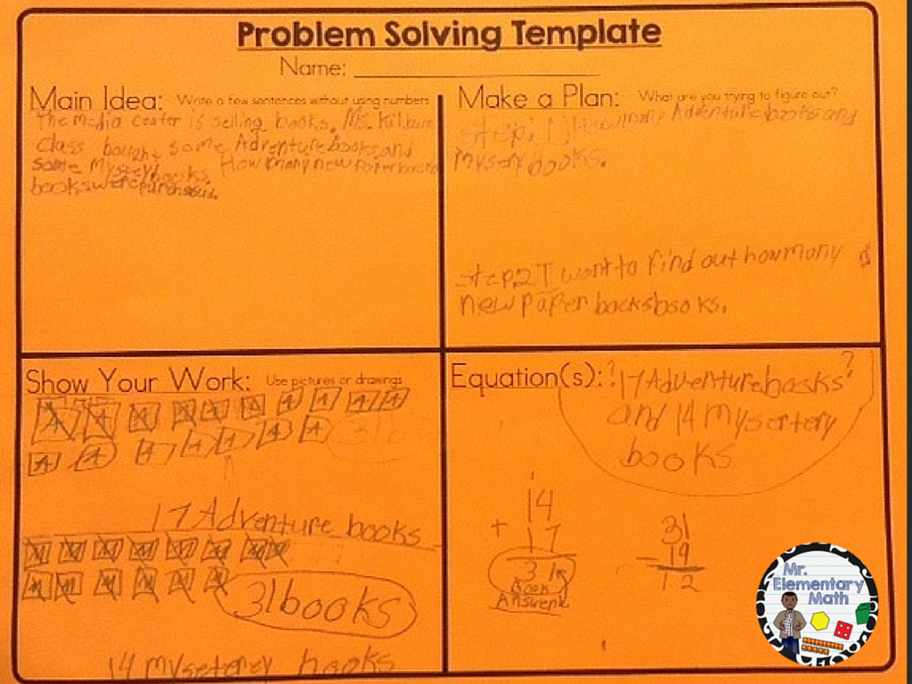 images of Mr Elementary Math problem solving strategies