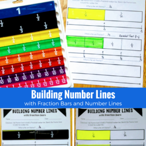 fraction math models and number lines