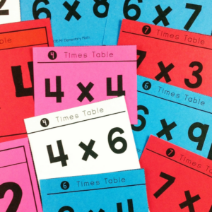 multiplication game cards for time table review