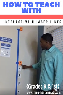interactive number lines for kindergarten and 1st grade