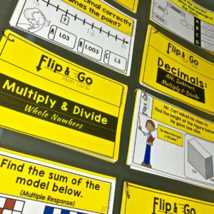 math tasks cards for elementary students