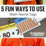 fun math name tag games