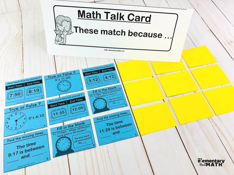math gakes with math talk cards
