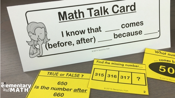 use math talk cards to promote math discussions