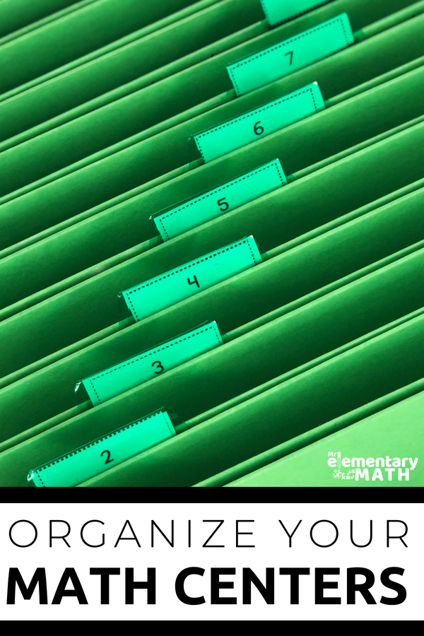 Math Center Organization - Get tips on how to organize yourself, your stuff and your students. #mathcenters #guidedmath #centerorganization