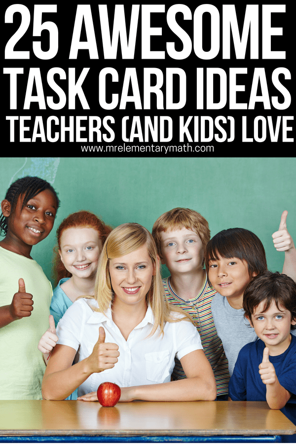 25 of the BEST task card ideas you should be using in your classroom. Learn how to use task cards for teaching and to review math throughout the school year. Ideas range from independent practice to partner work to fun whole group activities.#taskcards #mathtaskcards #howtousetaskcards #mathcenters #kindergartenmath #1stgrademath #2ndgrademath #3rdgrademath #4thgrademath #5thgrademath