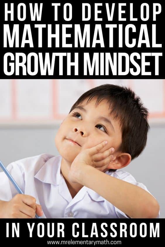 Teaching growth mindset doesn't have to be hard. Help your elementary students develop a mathematical growth mindset with these 5 easy to implement classroom activities and ideas. #growthmindset #classroom #mathgrowthmindset