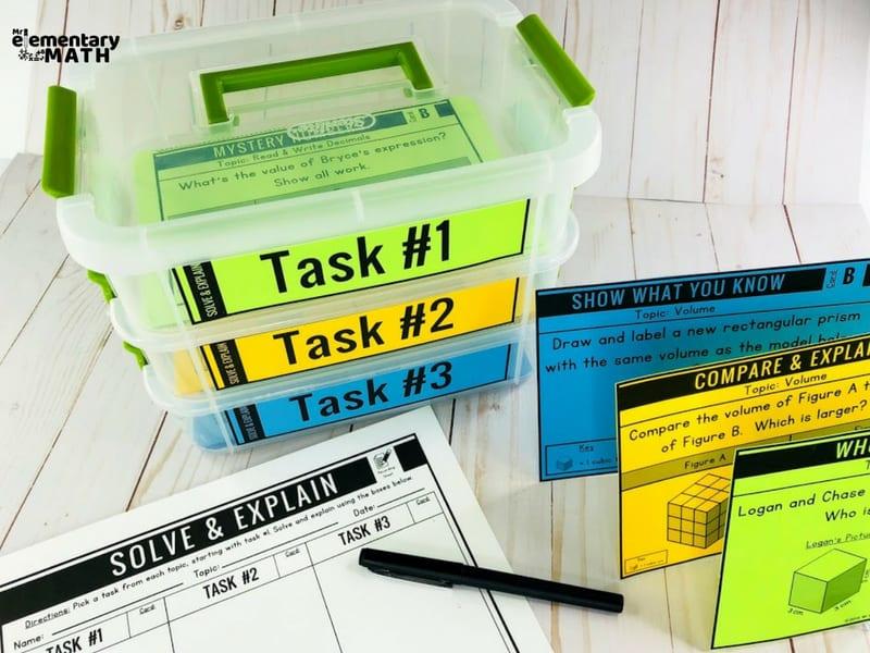 math problem solving activities organization