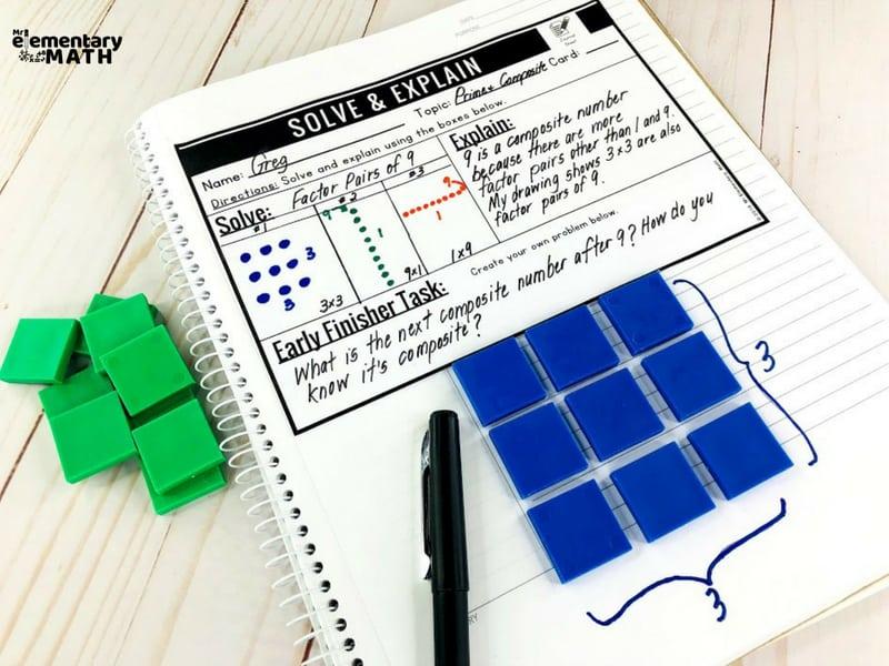 math problem solving activities notebook