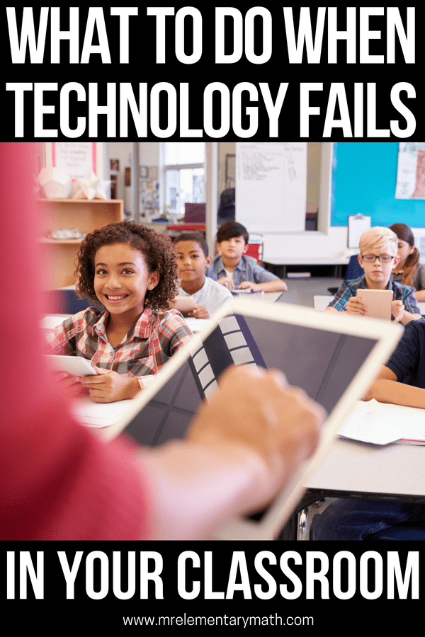 Ever been teaching and your technology fails right in the middle of your lesson plan? Or how about computers not working at your tech station? With these 5 tips you'll be able to keep student learning going without skipping a beat. These fun ideas will keep your kids engaged and turn a stressful situation into a breeze. #classroomtechnology #technologyintheclassroom