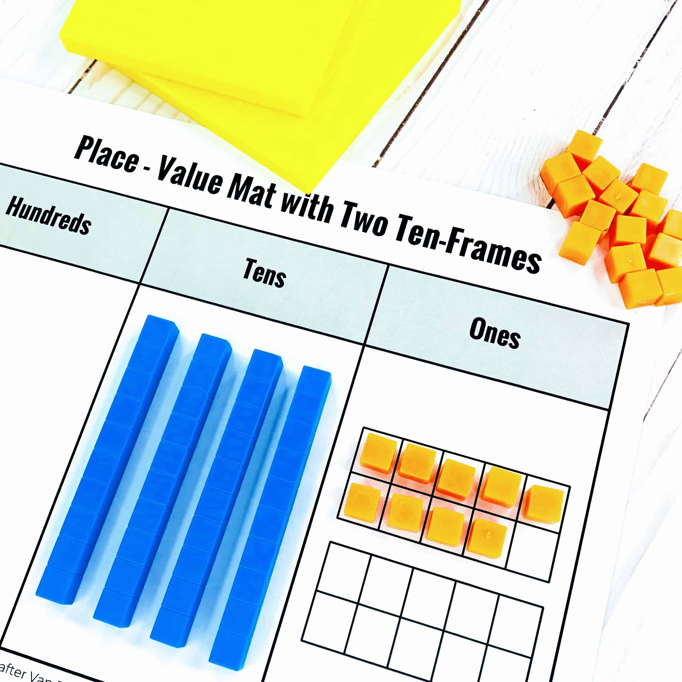 Thousand Base Tens Single set Hundreds,Tens and units maths Learning Resource