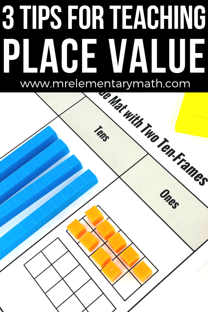 teaching place value base ten blocks