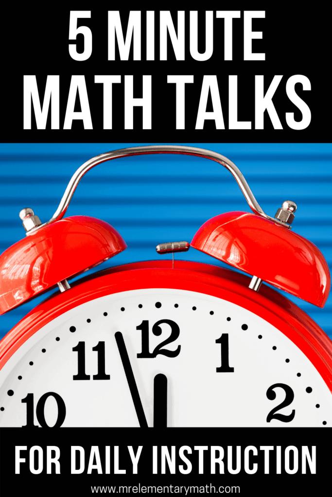5 minute math talk red alarm clock