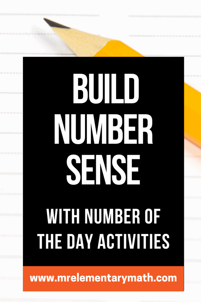 build number sense with number of the day activities